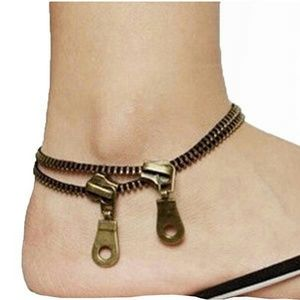 Zipper anklet